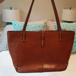 Ann Taylor genuine leather tote